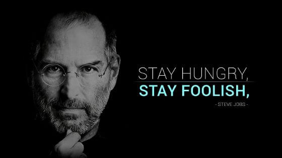 abstract GD topic - stay hungry stay foolish